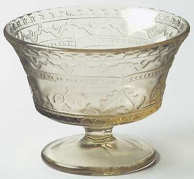 Federal Glass Company PATRICIAN AMBER Champagne Sherbet Glass 124540