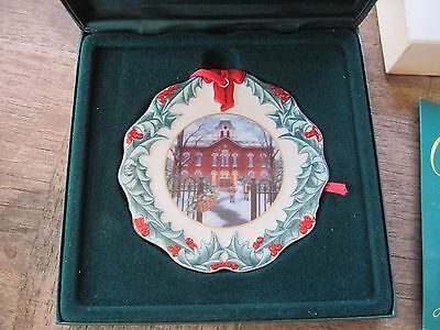 1996 Longaberger Collector's Club Porcelain Ornament..Longaberger University