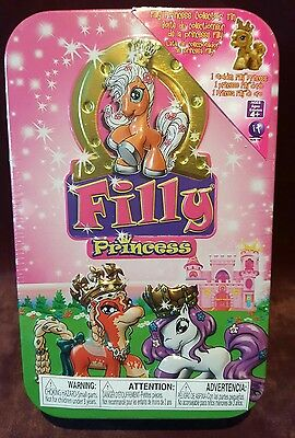 Filly Princesses Ponies in collectors tin (pink) 1 Golden Filly Princess Pony.
