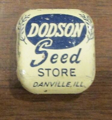 Vintage SAmple Dodson SEed Store Tin Danville ILL