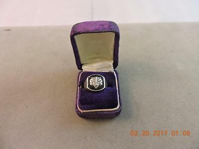 WWII West Point Military Academy Ladies Sterling Signet Class Ring