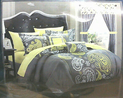 NEW Chic Home 20pc Olivia Paisley Print Reversible Comforter Set Queen $134