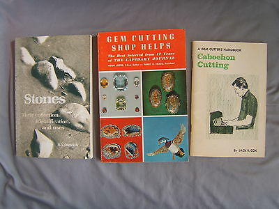 Gem Cutting Shop Helps, Stones Collection Identification Uses & Cabochon Books
