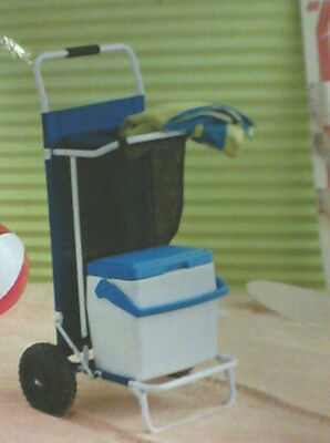 NEW Room Essentials Durable Steel Frame Utility Cart for Beach & More Blue $55