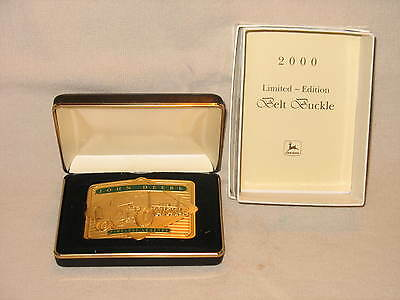 John Deere 2000 Gold Belt Buckle 4010 4020 Tractor 1 Of 2500 Nib Never Worn