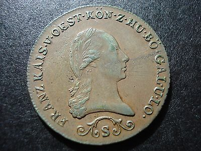 1812 S Austria 3 Kreutzer Large Copper Coin