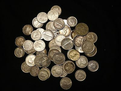 Group of Silver World Coins 58 Pieces Total #4