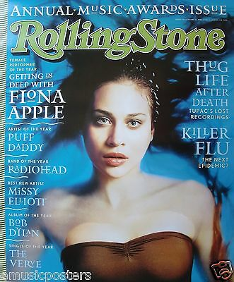 """FIONA APPLE """"ROLLING STONE"""" POSTER FROM 1998 - Hauntingly Beautiful Water Shot"""
