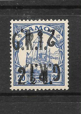 SAMOA  GRI 1914  2 1/2d on 20pf  YACHT INVERTED DOUBLE OVPT  MLH  SG 104ce