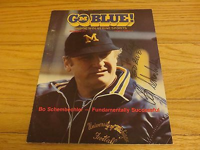 Bo Schembechler Autograph Autographed Signed Go Blue Magazine Michigan Football