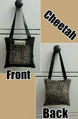 Girls Cheetah Print Hanging Tooth Fairy Pillow Stocking Stuffer Gift