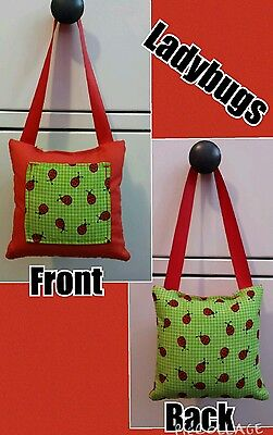 Girls Ladybugs Print Hanging Tooth Fairy Pillow Hamdmade