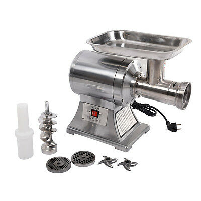 New Commercial Stainless Steel True 1HP Electric Meat Sauage Grinder No #12