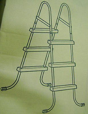 NEW OPEN BOX Intex 42 inch Pool Ladder with Pool Skimmer