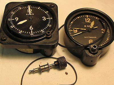Wittnauer Airplane clock and Bulova Army airplane clock parts/For restoration or