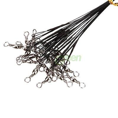 Lot 60pcs Bearing Fishing Line Swivels Snaps Wire Leaders Connector Tackle New