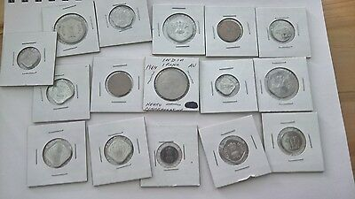 India Coin Lot – 16 Indian Coins Mixed Dates and Denominations – Nice Condition