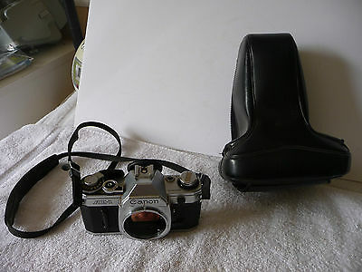 "Canon AE-1 35mm SLR Film Camera Body Only ""As is"" With Case."