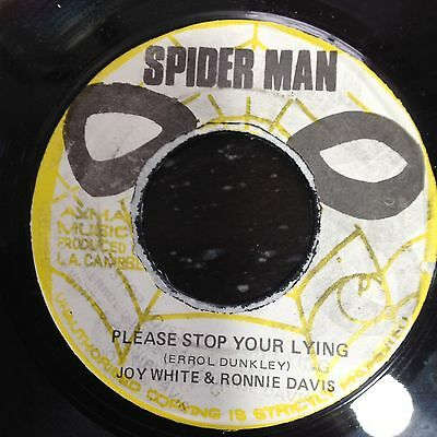 JOY WHITE-Please stop Your Lying, Spider Man Label, Orig. Roots Vinyl 7""