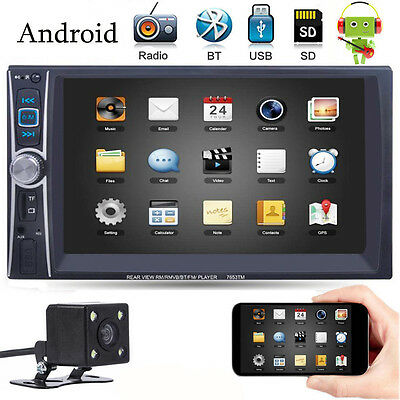 """6.6"""" Double 2 DIN USB Mirror Link Car MP3 MP5 Player Stereo Touchscreen In Dash"""
