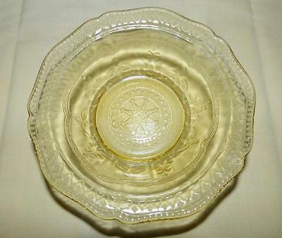 """Federal Glass PATRICIAN Yellow Depression Glass 5"""" Fruit Bowl EXC"""