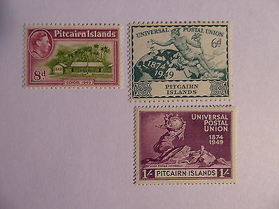 Pitcairn Is GVith 8d and UPU 2 values m/mint