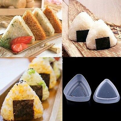 1 set Onigiri Rice Ball Bento Press Maker Mold Triangle Form Mold Sushi Maker