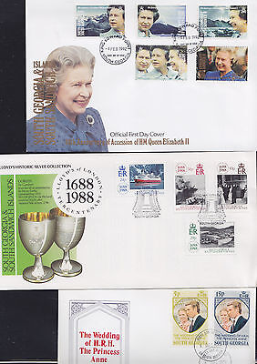 047706 South Georgia & Sandwich FDC First Day Cover`s - Lot