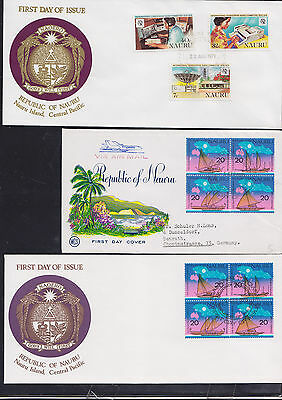 047727 Nauru FDC First Day Cover`s - Lot