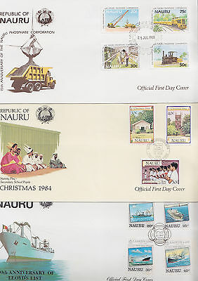 047731 Nauru FDC First Day Cover`s - Lot