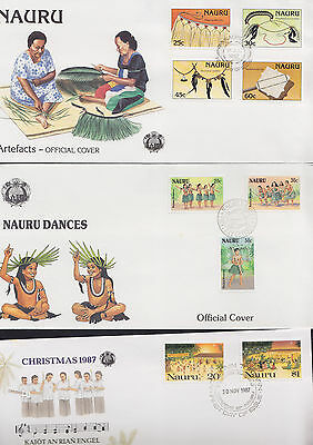 047734 Nauru FDC First Day Cover`s - Lot