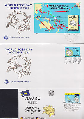 047735 Nauru FDC First Day Cover`s - Lot