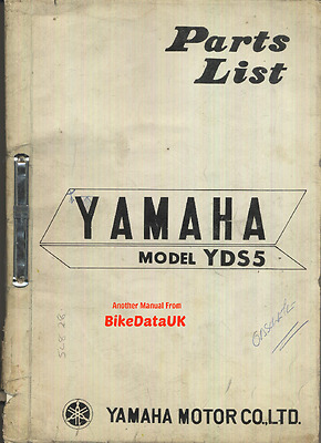 Genuine Yamaha 250 Twin YDS5 (1967-1969) Parts List Catalogue Book DS5 pre-RD LC