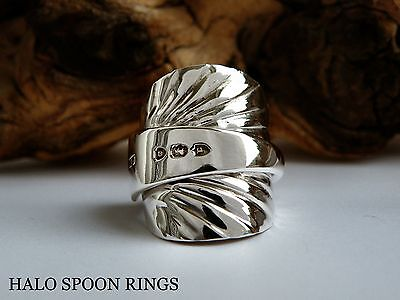 Stunning Victorian Solid Silver Spoon Ring 1890 *** Ideal Mothers Day Gift ***