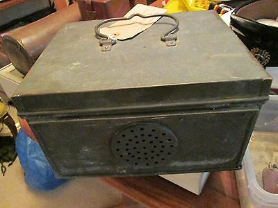 Ww1 Brass Pigeon Carrier Vented Box From Tank