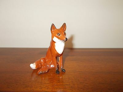 1980's RETIRED 'BESWICK' FOX (SEATED) by ARTHUR GREDINGTON - GLOSS - EX COND