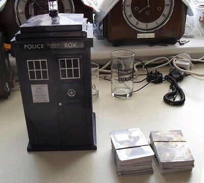 doctor who. tardis & trading cards x 185+