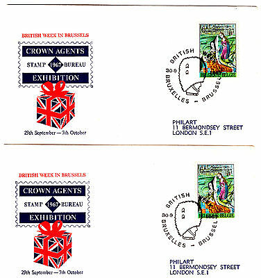 Belgium Stamp Expo Covers. 1967. Used.  #96