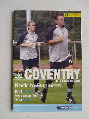 Coventry City v Norwich City 2004/05 Friendly