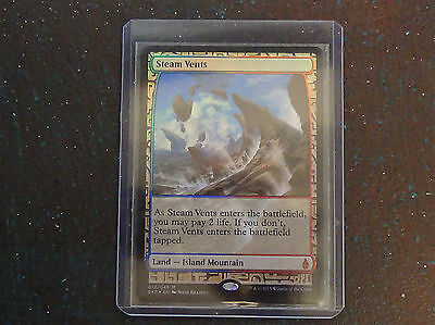 Steam Vents Expedition Land Foil - Magic the Gathering - Fair Condition See Pics