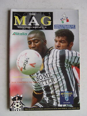 Notts County v Southend United 1994 Anglo Italian Cup semi final