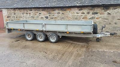 Ifor Williams Lm166 G3 Flat Bed Tri Axel Trailer Car Trailer