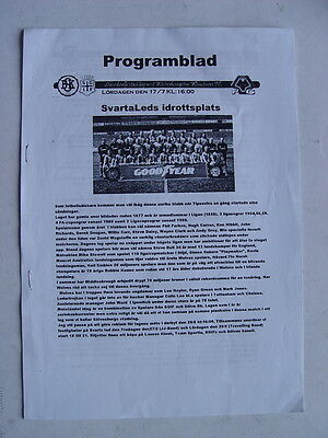 Solvesborgs v Wolves 1999/2000 Friendly