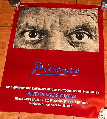 PICASSO Vintage Exhibition Poster NYC Gallery