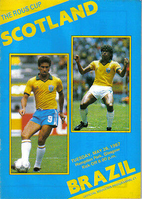 1987 SCOTLAND  v  BRAZIL  (THE  ROUS  CUP)