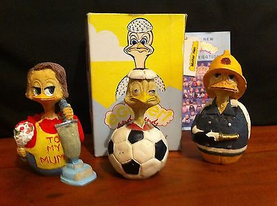 Eggbert And Friends By Malcolm Bowmer Collectables X 3 Figures