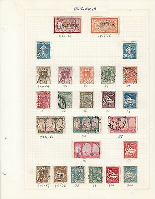 Algeria Collection Lot Accumulation Of Older Issued On Pages (5 Pictures)