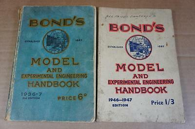 O gauge Bond's Model & Experimental Engineering Handbooks 1936/37 & 1946/7