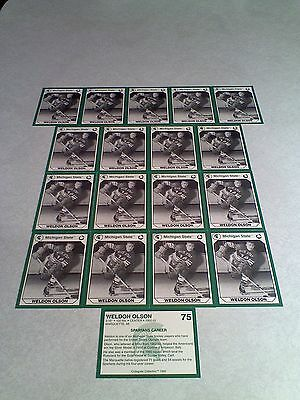 *****Weldon Olson*****  Lot of 18 cards / Michigan State