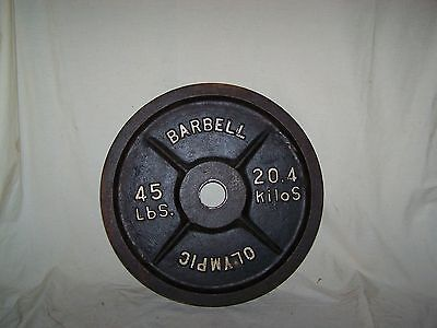 Deep Dish Olympic 45lb Weight Plate